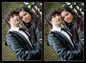 Portrait Retouching - Kirsten & Brian (Before & After)