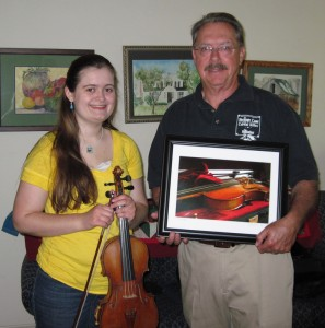 "John M. & Courtney with ""The Fiddle"" (Spring 2012)"