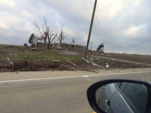 Destruction from Washington, Illinois Tornado
