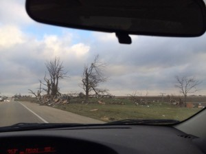 Farm House Destroyed by Washington, Illinois tornado