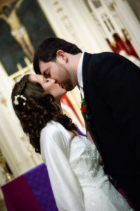 Bride & Groom First Kiss